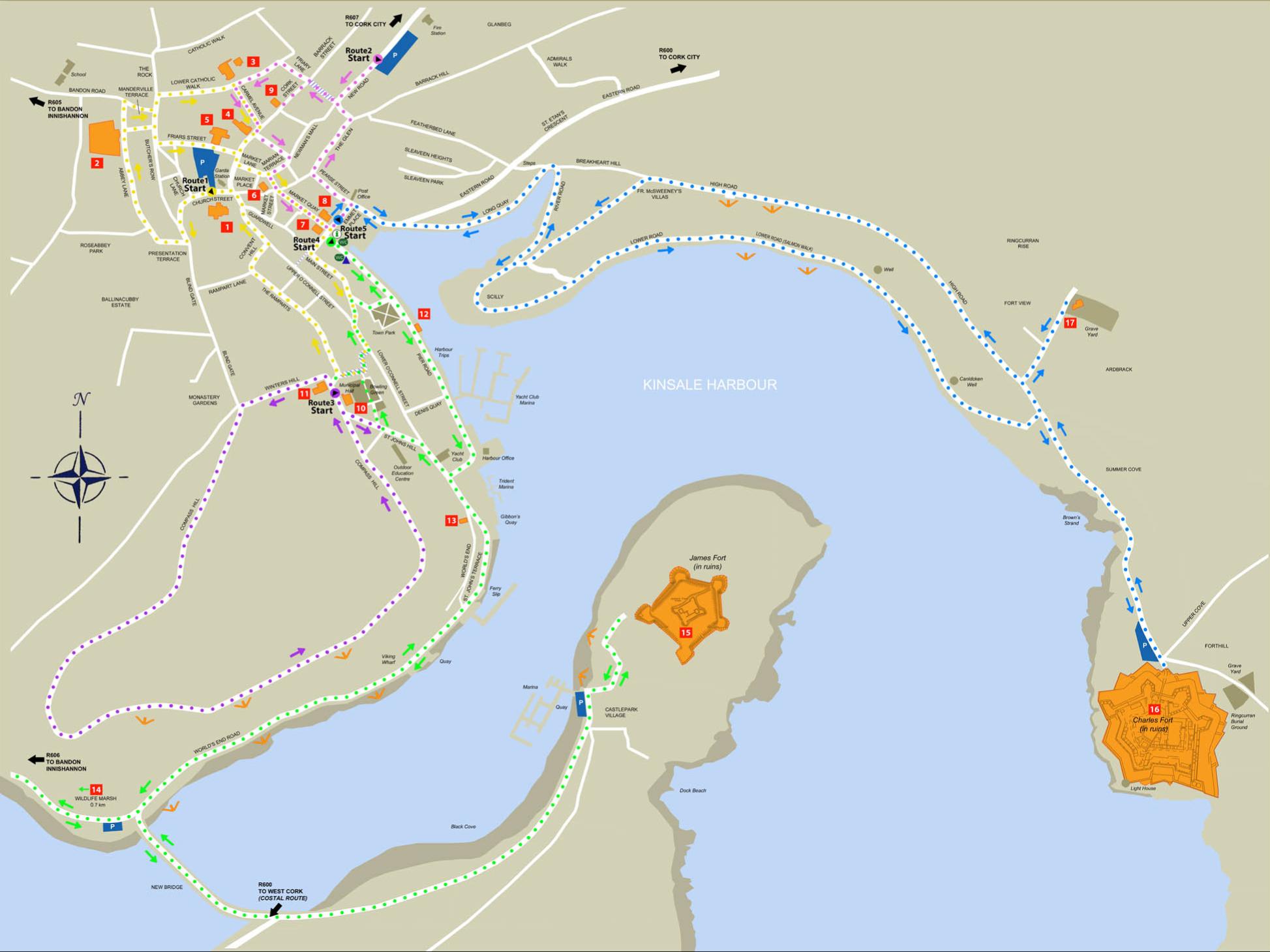 Kinsale Heritage map