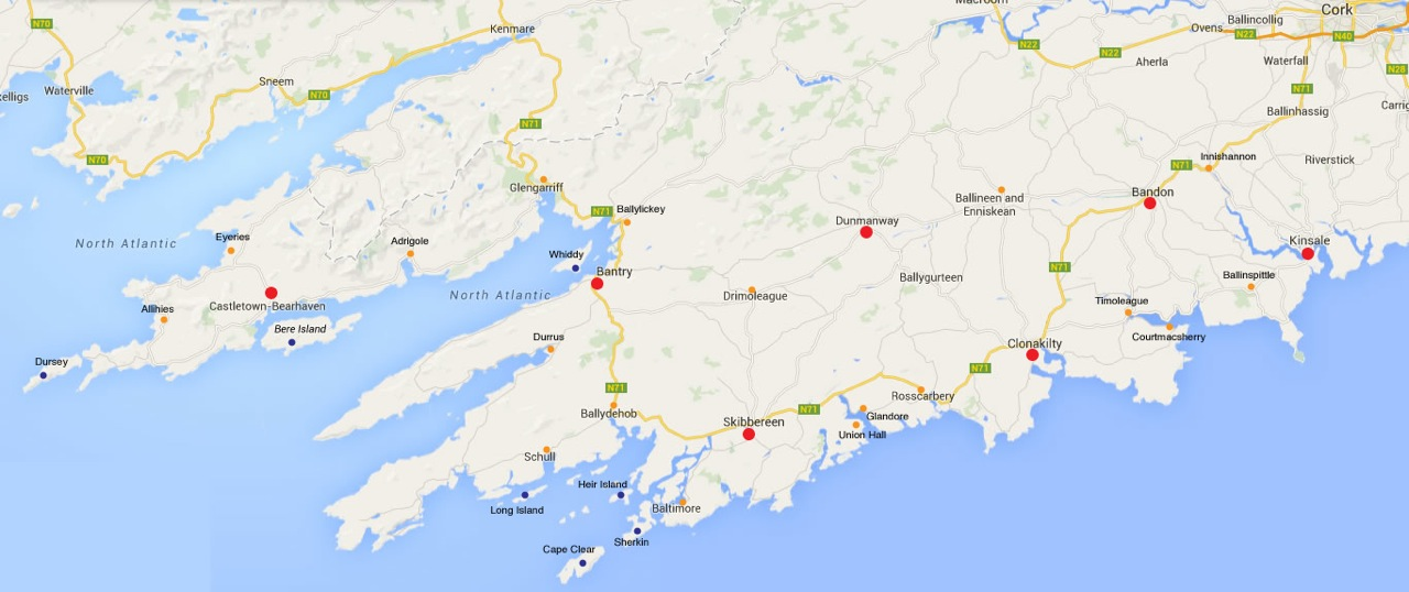Map of West Cork