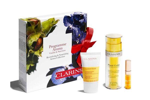 clarins-emulsion-plant-gold-confort-scrub-lip-confort-set-regalo